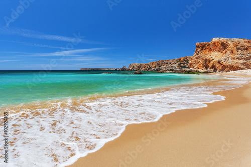 Atlantic ocean - Sagres, Algarve, Portugal Canvas Print