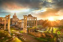 Roman Forum. Ruins Of Roman Fo...