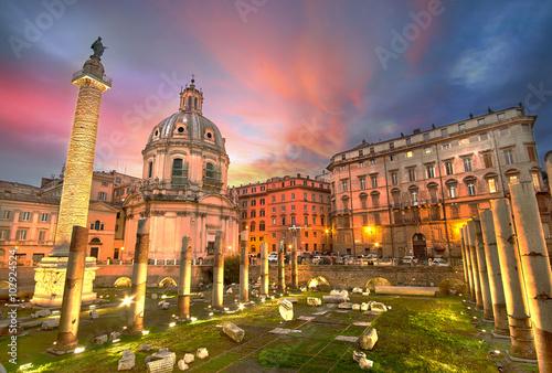 Obrazy na płótnie Canvas Rome Sunset