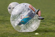 Leinwanddruck Bild - bubble football ball game