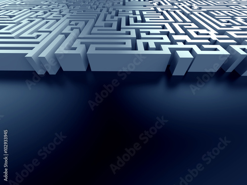 blue maze ,complex problem solving concept - Buy this stock