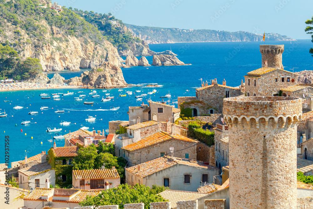 Fototapety, obrazy: Tossa de Mar, Costa Brava, Spain.