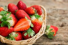 Strawberries In The Basket