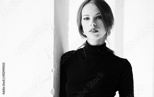 Black and white image of a ...