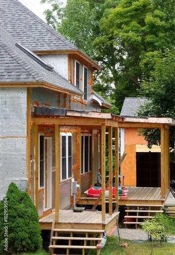 Photo porch addition