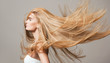 canvas print picture - Beautiful healthy hair.