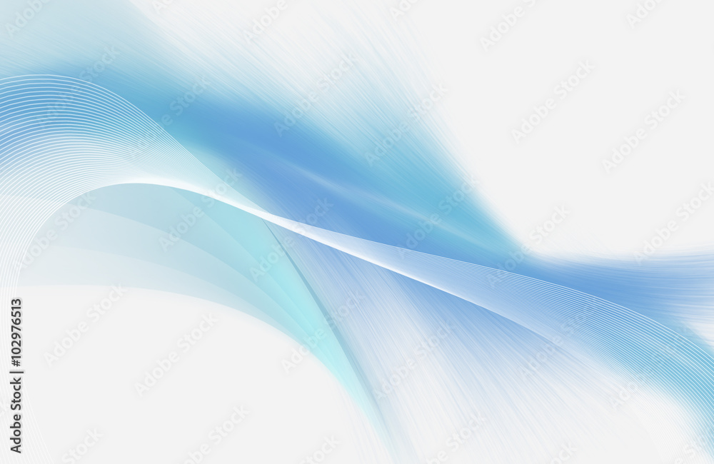 Fototapeta Light blue and white abstract background with mesh and smooth lines