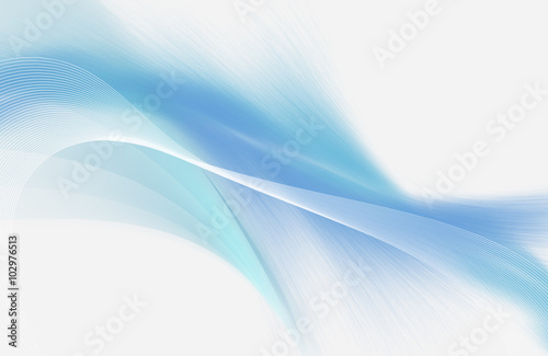 Obraz Light blue and white abstract background with mesh and smooth lines - fototapety do salonu