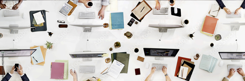 Fototapety, obrazy: Business Team Meeting Connection Digital Technology Concept