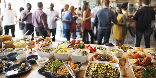 Buffet Dinner Dining Food Celebration Party Concept - 102976718
