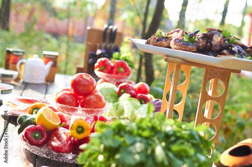 Aluminium Prints Picnic picnic summer vegetables