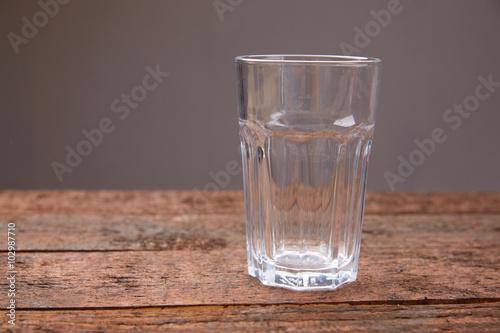 Foto op Canvas Alcohol empty glass