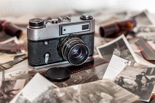 Obraz Stary aparat fotograficzny, Polaroid - fototapety do salonu