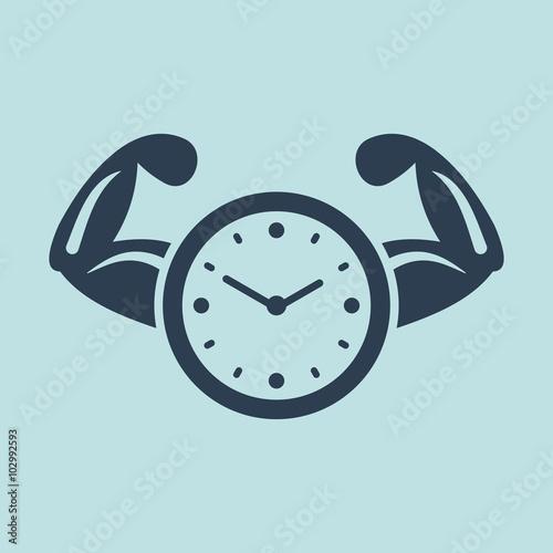 Carta da parati Icon of Time Power. EPS-10.