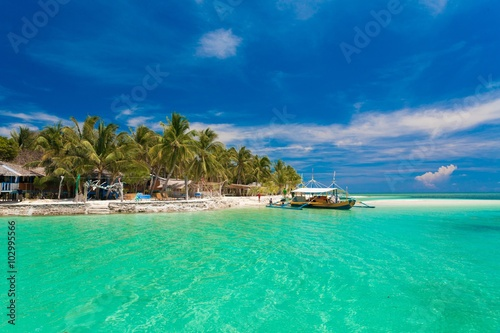 Deurstickers Tropical strand day tropical sea