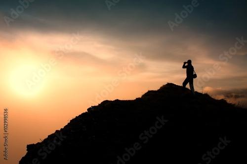 Fototapeta Mountain sunset summer obraz na płótnie