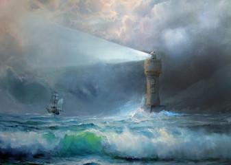 Fototapeta Morze Lighthouse.