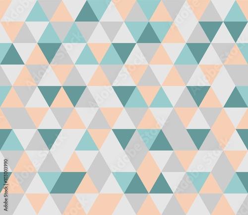Tapeta ścienna na wymiar Kolorowy wektorowy wzór z geometrycznych trójkątów