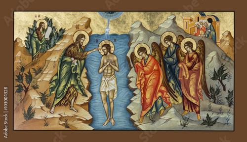 Photo Icon of the Baptism of Christ