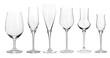 Leinwanddruck Bild - Collection of wineglasses