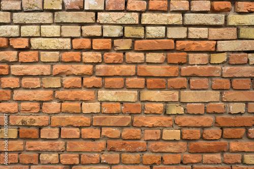 Foto op Canvas Graffiti old red brick wall texture