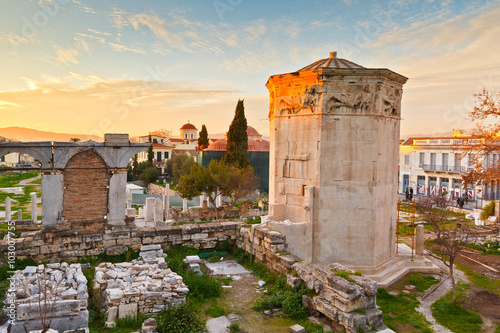 Printed kitchen splashbacks Athens Remains of the Roman Agora and Tower of the Winds in Athens, Greece.