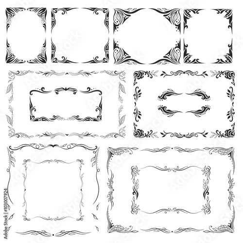 Elegant Vector Frames Set - Buy this stock vector and explore ...