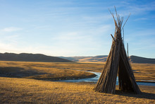 Tepee In The Mongolian Steppe