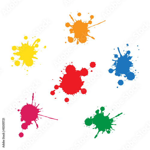 colorful ink blobs Poster
