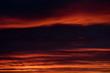 Beautiful bright sunset. Cloudy sky