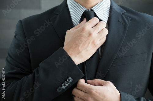 Fotografie, Obraz  Podnikatel v obleku a kravatě kravata