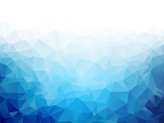 Geometric blue ice texture ...