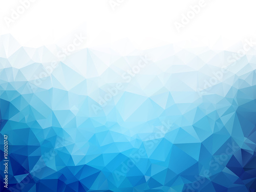 Fotografie, Obraz  Geometric blue ice texture background