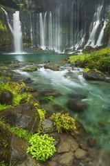 Panel SzklanyShiraito Falls near Mount Fuji, Japan