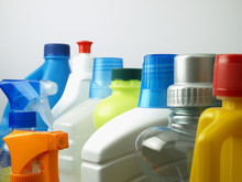 Cleaning Supplies In Plastic...