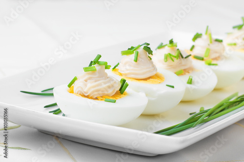 Eggs Boiled With Mayonnaise