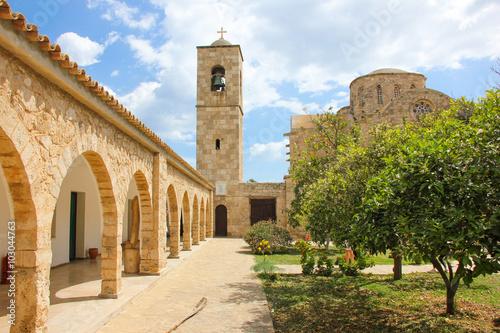 Deurstickers Cyprus Monastery of St. Barnabas in Cyprus
