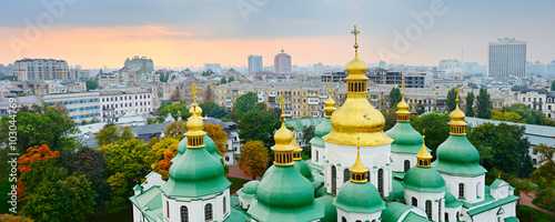 Photo Stands Kiev Cupola of St. Sophia Cathedral. Kiev