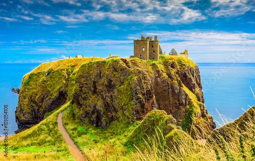 Canvas Print Dunnotar Castle in Scotland