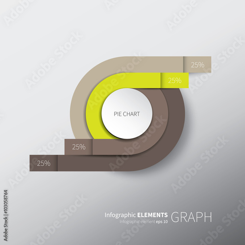 original vector chart design / vector folded paper with circles and