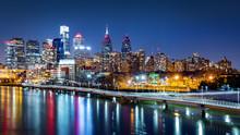 Philadelphia Skyline By Night