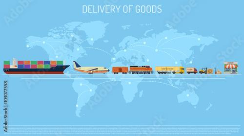 Fotografía  Delivery of Goods Concept