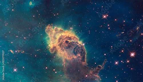 Photo  Jet in Carina Nebula. Composed of gas and dust.