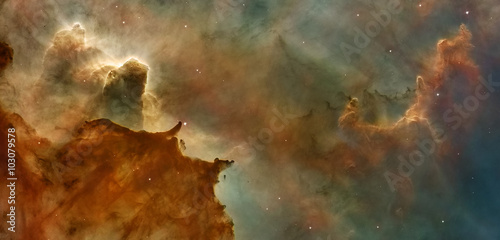 Fototapeta Star Birth in the Carina Nebula (also known as the Grand Nebula)