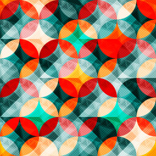 Colorful Abstract Circles Seamless Pattern Vector Illustration