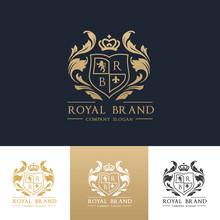 Luxury Royal Crest Logo Templa...