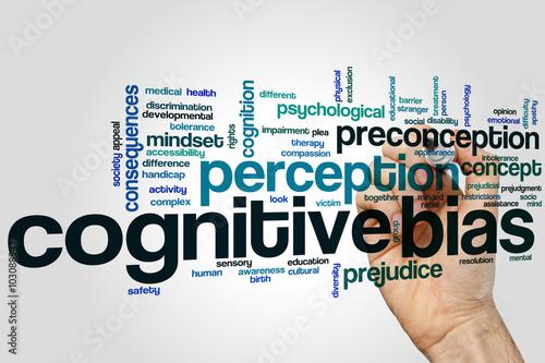Photo Cognitive bias word cloud