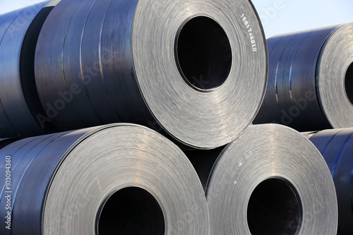 Fotografie, Obraz  Steel coil