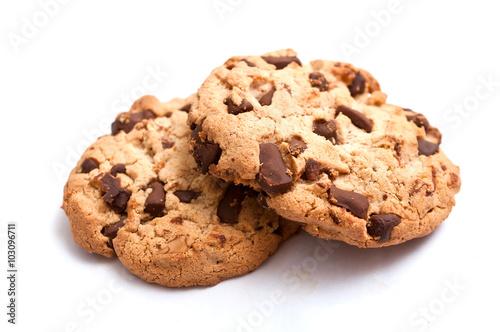 Tuinposter Koekjes Cookies sur fond blanc