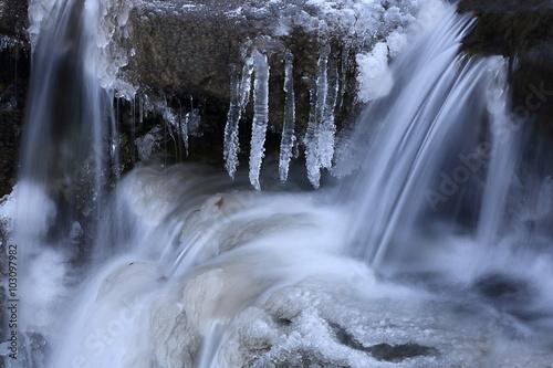 Deurstickers Bakkerij 冬の滝
